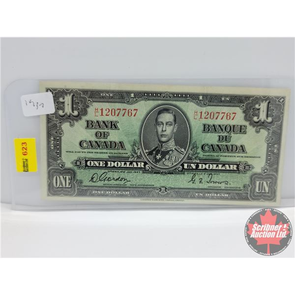 Canada $1 Bill 1937 : Gordon/Towers #HL1207767 (See Pics for Serial Numbers & Signatures)