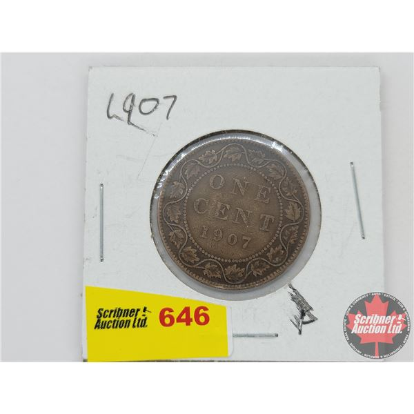 Canada Large Cent 1907