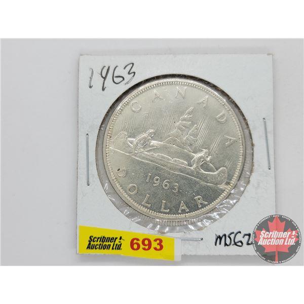Canada Silver Dollar 1963