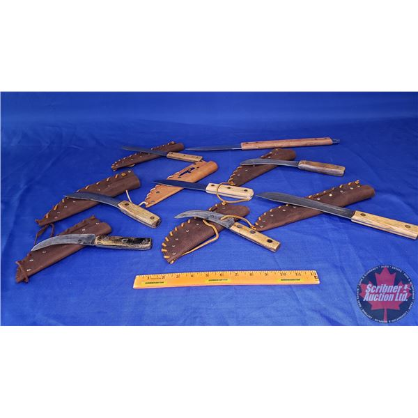 Estate Lot ~ Variety Knives with Custom Sheaths (See Pics!)