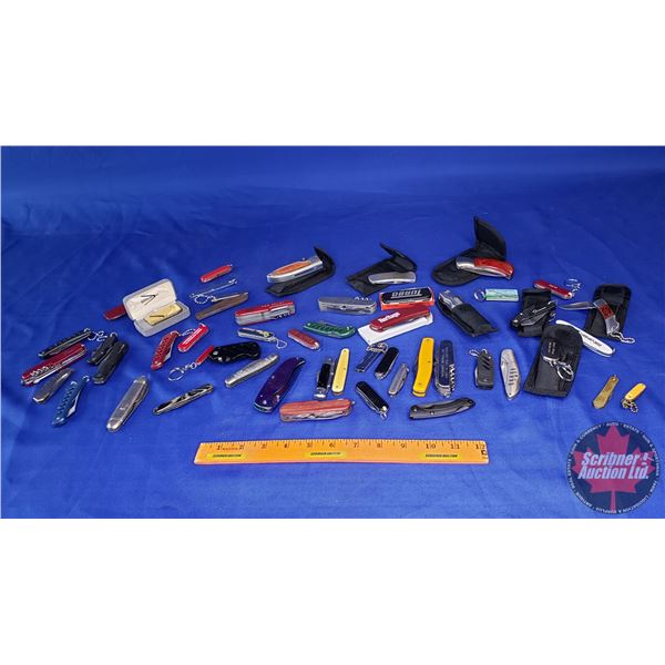 Estate Lot ~ Large Variety of Pocket Knives! (See Pics!)