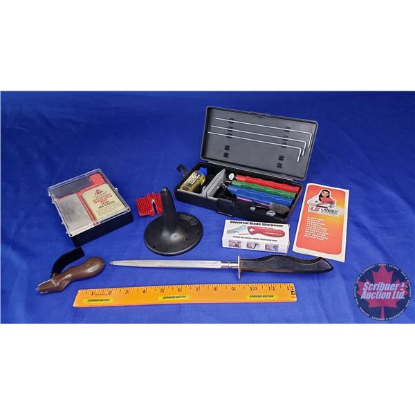 Estate Lot ~ Knife Sharpening Group (Incl. Lansky Set!) (See Pics!)