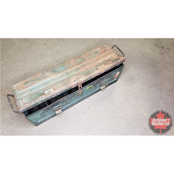 "Estate Lot ~ Metal Ammo Box (9""H x 27-3/4""W x 8-1/2""D)"