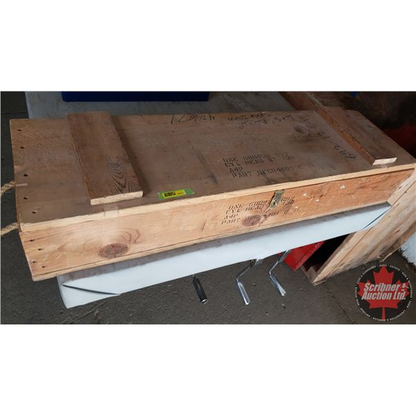 Estate Lot ~ Tools: Wood Box w/Engine Overhaul Tools (Piston Ring Compressors, Piston Ring Groove Cl