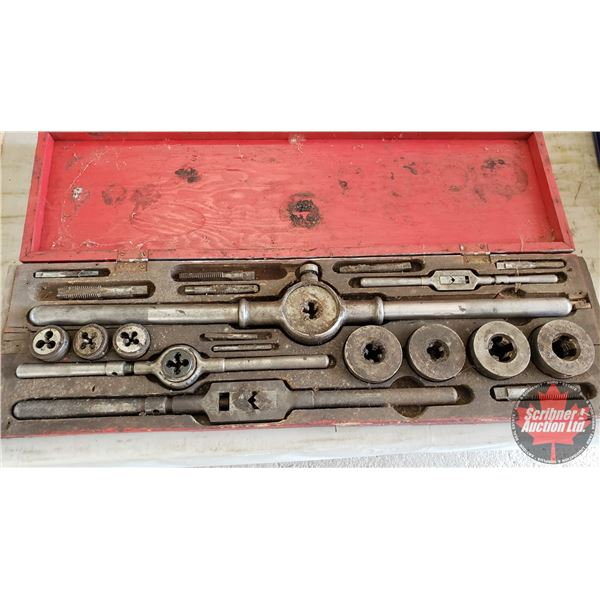 "Estate Lot ~ Tools: Vintage ""Butterfield"" Tap & Die Set (29""L x 9""W x 2-1/2""H)"