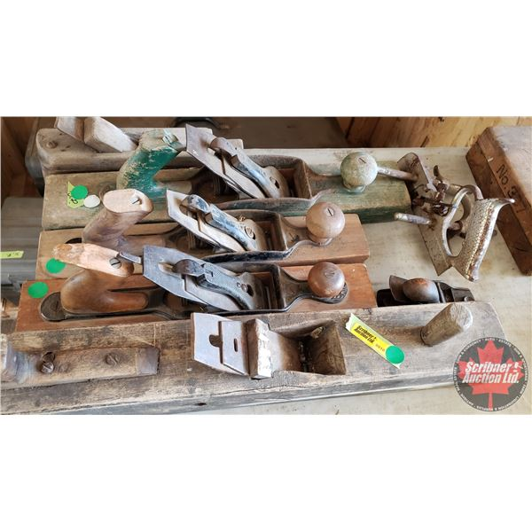 Estate Lot ~ Tools: Antique Wood Plane Collection (7) (See Pics!)