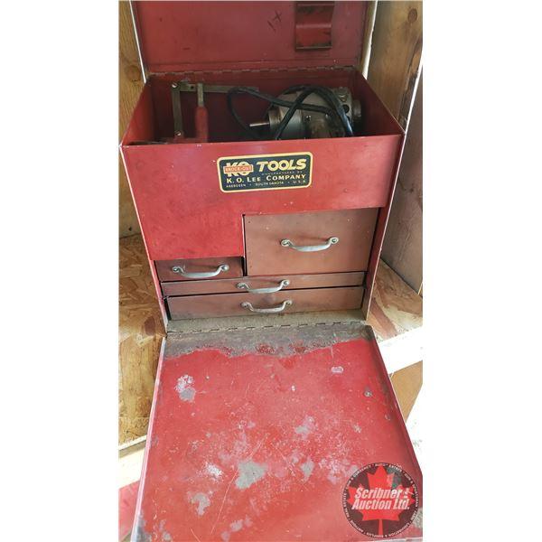 "Estate Lot ~ Tools: K.O. Tools - Valve Seat Grinder Kit (14""H x 14""W x 11""D)"