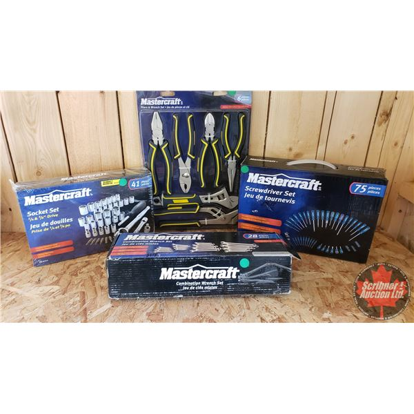 Estate Lot ~ Tools: Mastercraft Tools - Combo (New in Box) (28pc Combination Wrench Set, 75pc Screwd