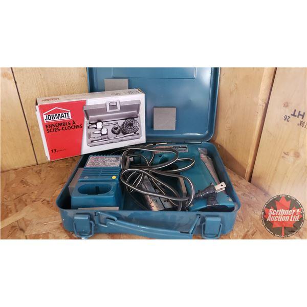 Estate Lot ~ Tools: Makita 7.2V Cordless Drill & Jobmate Hole Saw Kit (See Pics!)