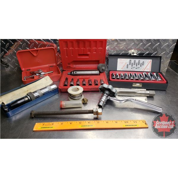 Estate Lot ~ Tools: Tray Lot (Snap-On Valve Adjustment Wrench, Snap-On Impact Driver, G.E.L. Metric