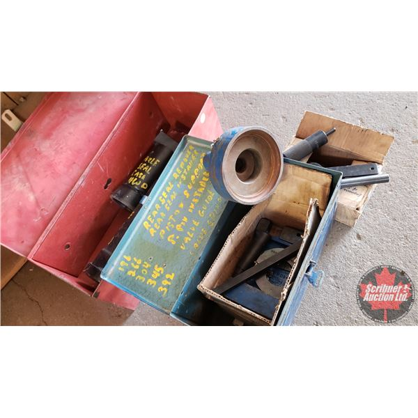 Estate Lot ~ Tools: Metal Boxes with Contents (Heavy Duty Axle Seal Drivers, Piston Pin Installer &