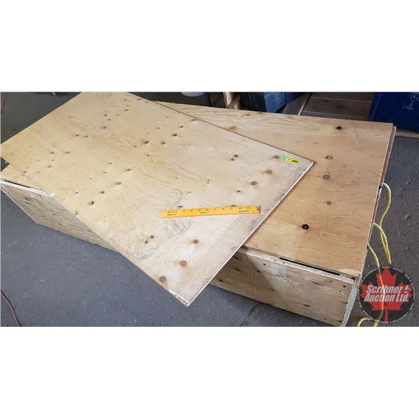"""Estate Lot ~ Tools: Plywood (1/2"""") Wooden Crate w/Rope Handles (56""""L x 25""""W x 13""""H) (See Pics!)"""