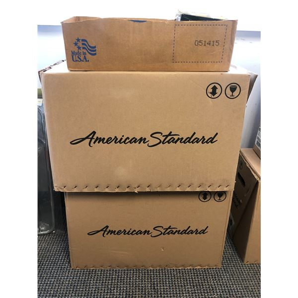 """Two American Standard """"Colony"""" toilet bowls only & 1 tank lid (white)"""