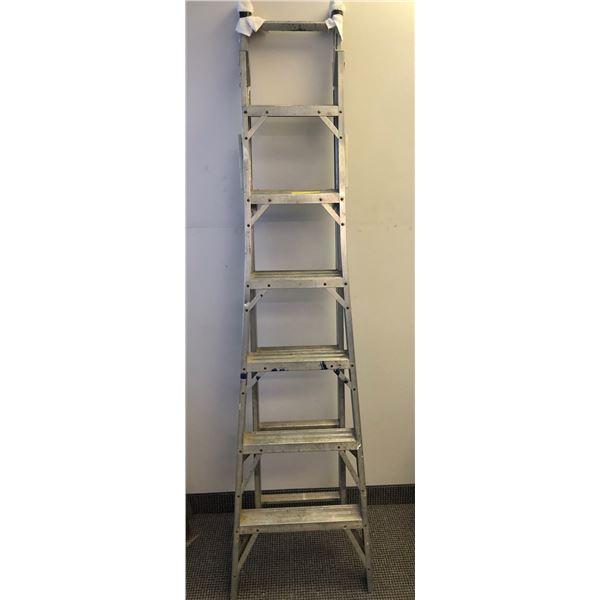 7ft aluminum combination step ladder/extension ladder