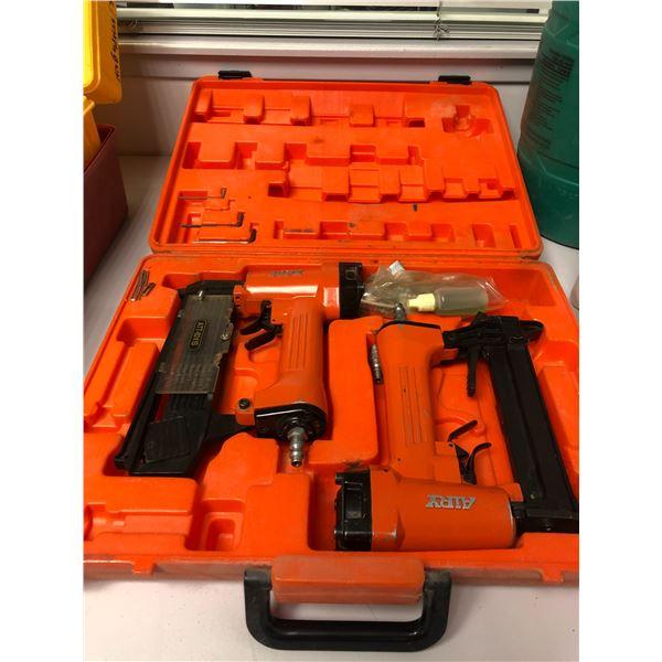 Airy 2pc pneumatic stapler & brad nailer set