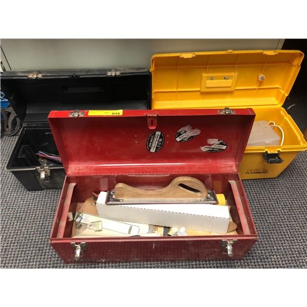 Three tool boxes & contents