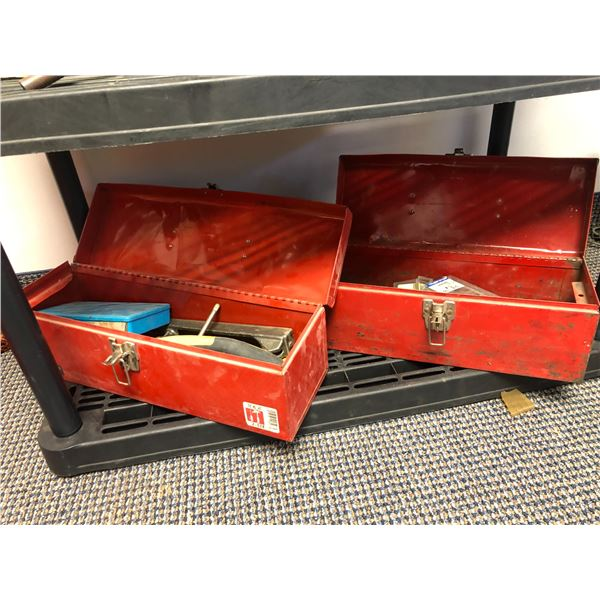 Two tool boxes & contents