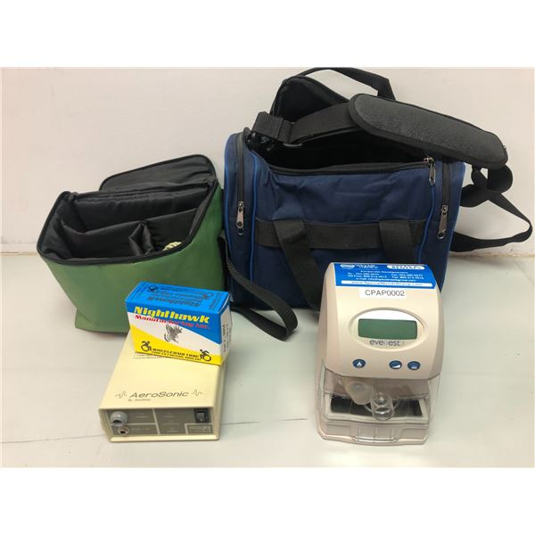 Two small portable CPAP oxygen concentrators w/ travel/ storage bags