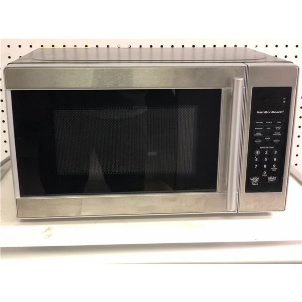 Hamilton Beach stainless steel front small microwave