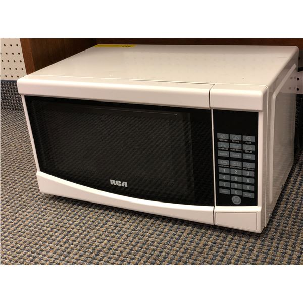 RCA small white microwave oven