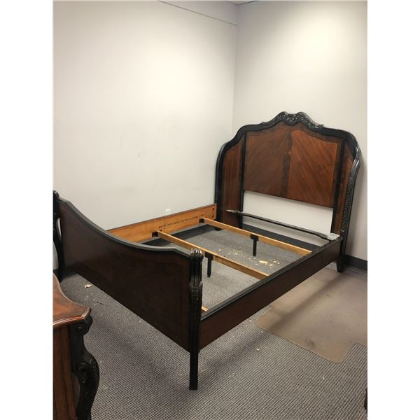 Tocino queen size panel bed - headboard/ footboard & rails