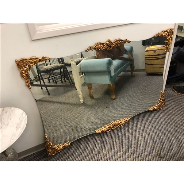 Gilded framed wall mirror - 49in x 32in