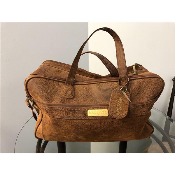 Buxton brown leather duffle bag