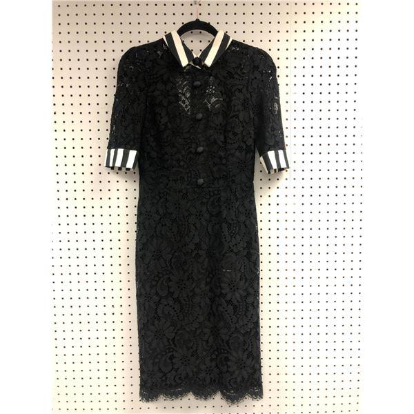 Dolce & Gabbana Made in Italy size 38 women's black & white dress - retail price $2,499