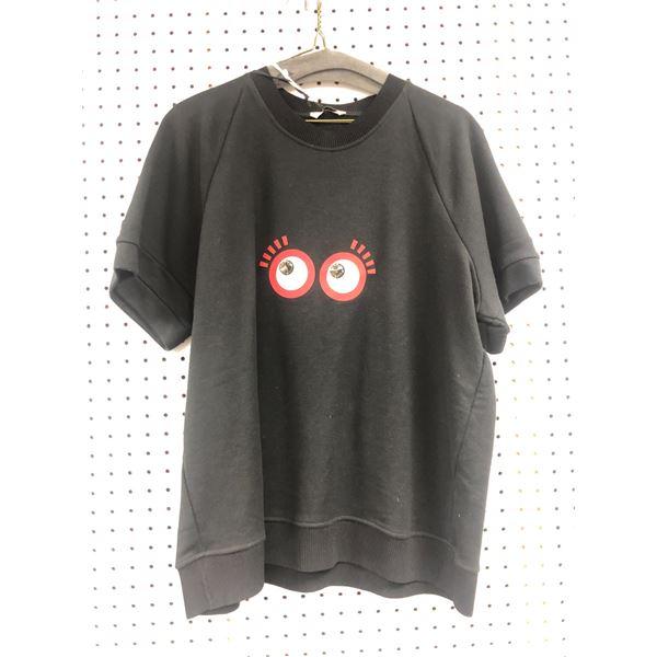 Fendi Roma Made in Italy crystal eyes t-shirt size 44 black - retail price $579