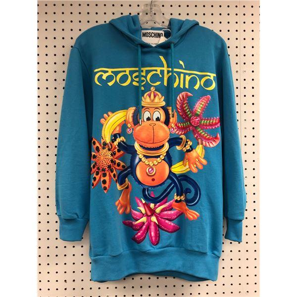 Moschino Milano Made in Italy size XXS blue monkey hoodie - retail price $730