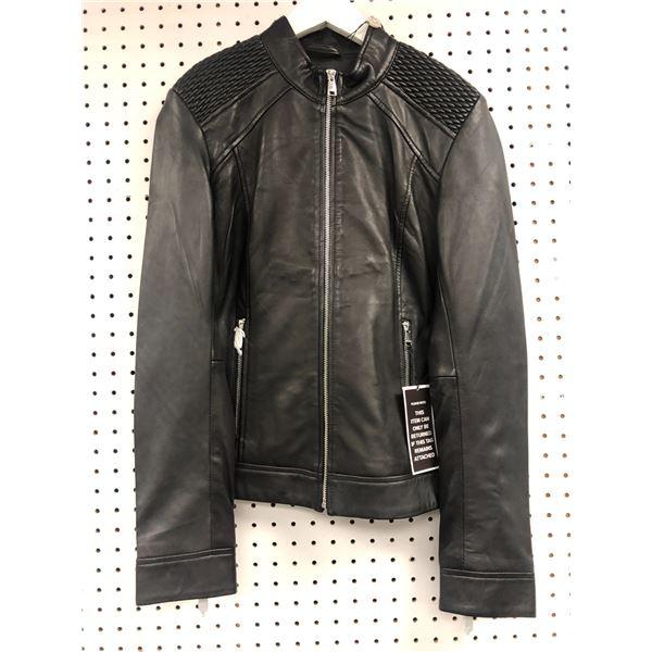 Danier Imogen ladies soft black leather jacket size XS - retail price $477