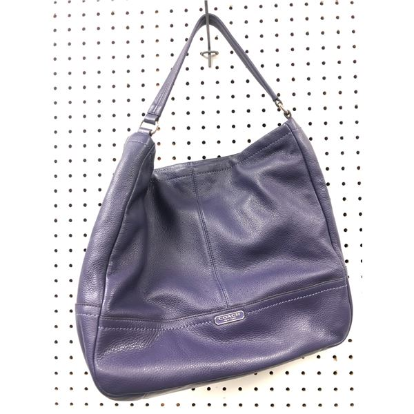 Coach New York ladies designer handbag purple
