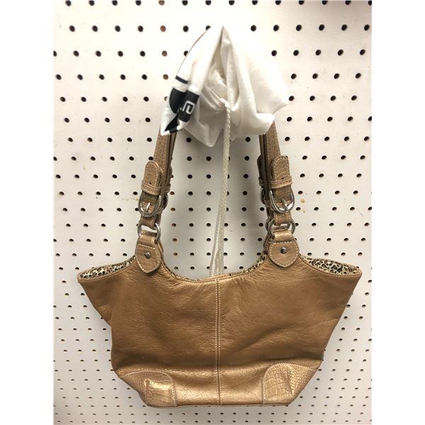 Soprano Made in Italy ladies designer hand bag gold