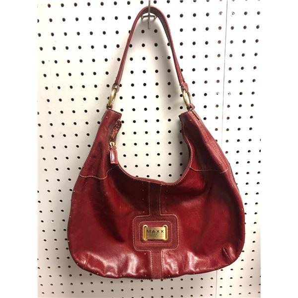 Maxx New York Signature designer ladies hand bag red