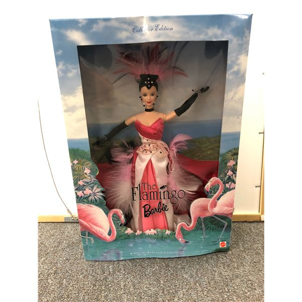 """Collector's Edition Barbie """"The Flamingo"""" Bird of Beauty Collection in original box"""