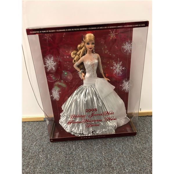 2008 Holiday Barbie celebrating 20 years of holidays in original box