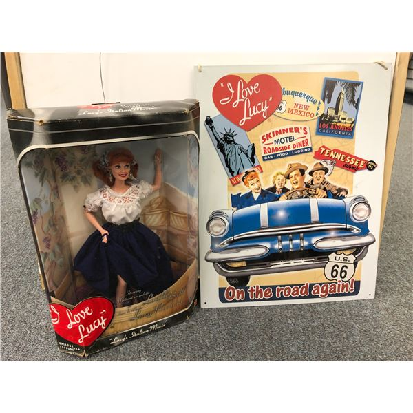 """""""I Love Lucy"""" Lucille Ball """"Lucy's Italian Movie"""" Collector's Doll in original box w/ tin advertisem"""