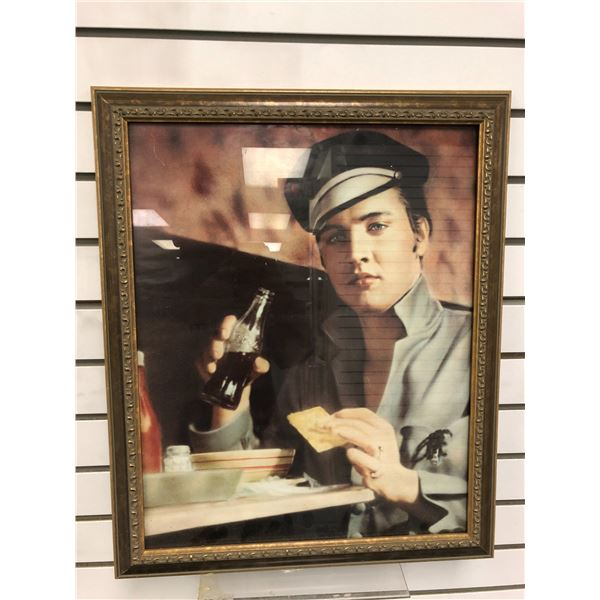 Elvis Presley Coca Cola nostalgic framed print