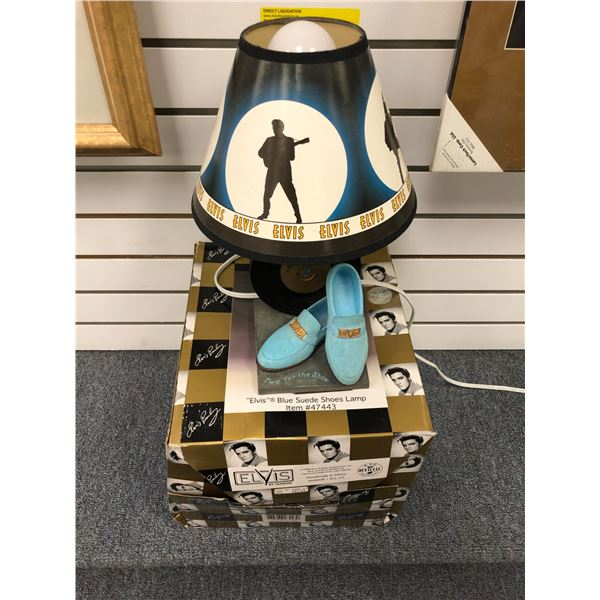 Elvis Blue Suede Shoes Lamp w/ original box