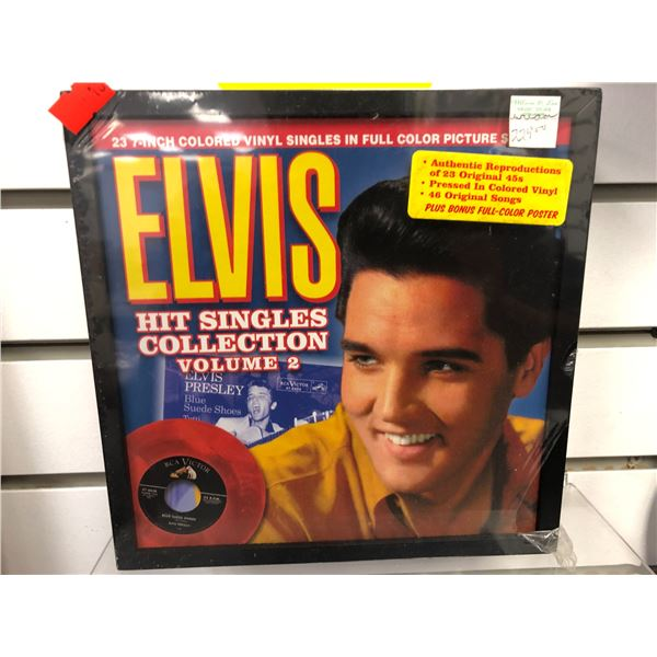 Elvis Hit Singles Collection Volume 2, 23  7 inch colored vinyl singles  in full color picture sleev