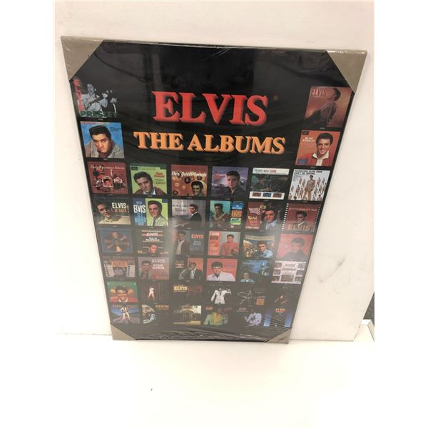 Elvis The Albums print on board - 22in x 34 1/2in
