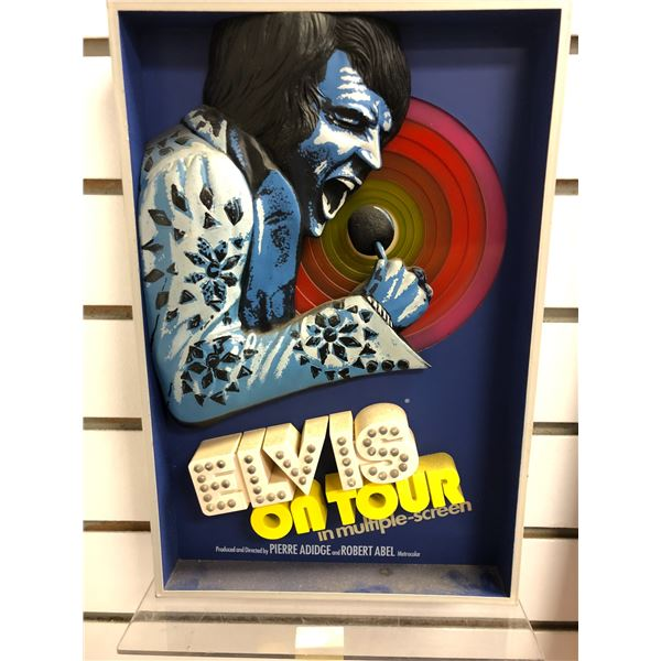 Elvis on Tour collectible 3D decorative wall art