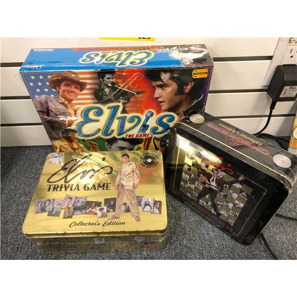 Group of 3 assorted Elvis Presley games (still factory sealed)