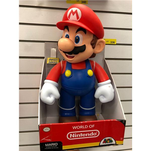 World of Nintendo Super Mario 20in tall Mario figure in original box