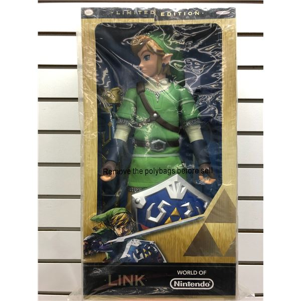 World of Nintendo limited edition Link 19in figure factory sealed in original box