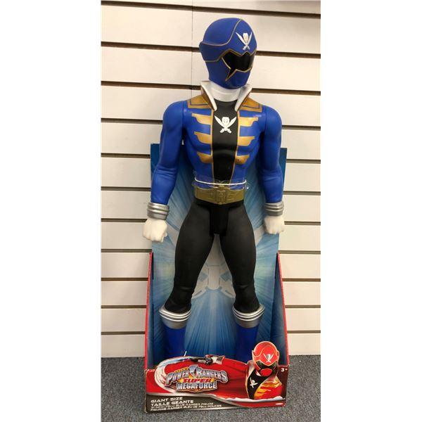Giant size Saban's Power Rangers Super Megaforce 31in Blue Ranger action figure in original box