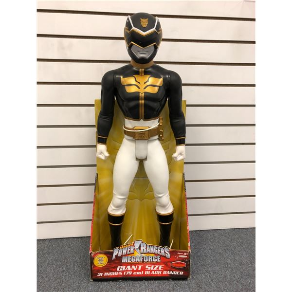 Giant size Saban's Power Rangers Super Megaforce 31in Black Ranger action figure in original box