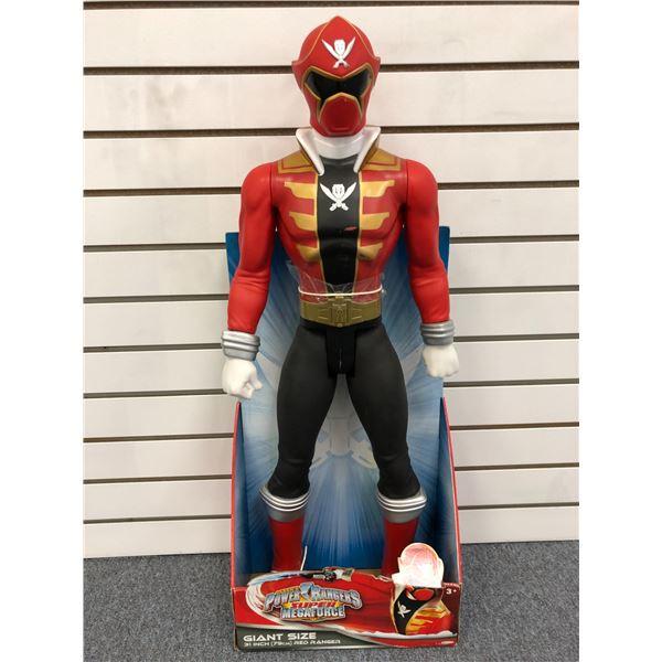 Giant size Saban's Power Rangers Super Megaforce 31in Red Ranger action figure in original box