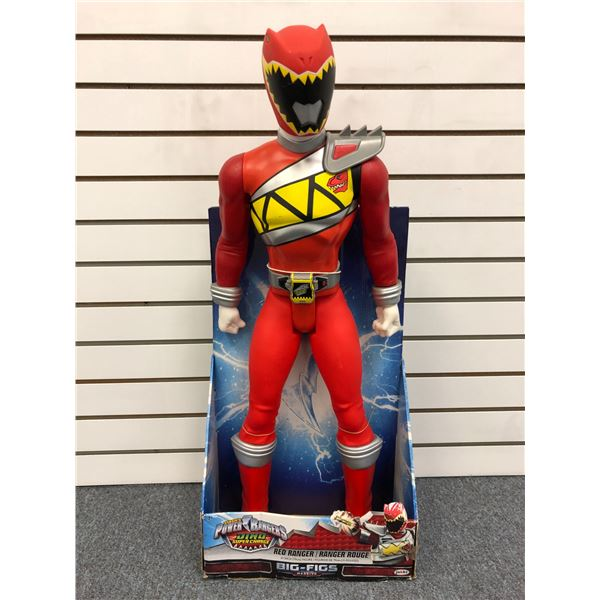 Giant size Saban's Power Rangers Dino Supercharge 31in Red Ranger action figure in original box