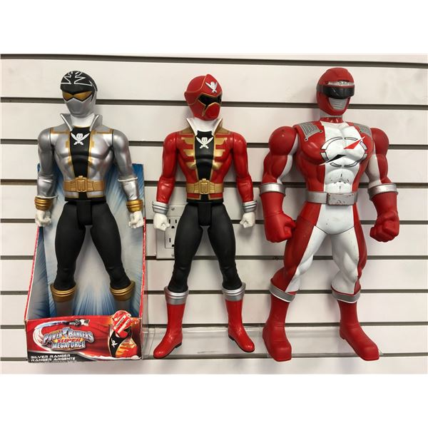 Group of 3 20in tall Power Rangers action figures